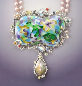 Garden of Radiant Dreams Enamel on pearls